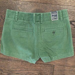 """3"""" inseam J. Crew Chino Shorts"""
